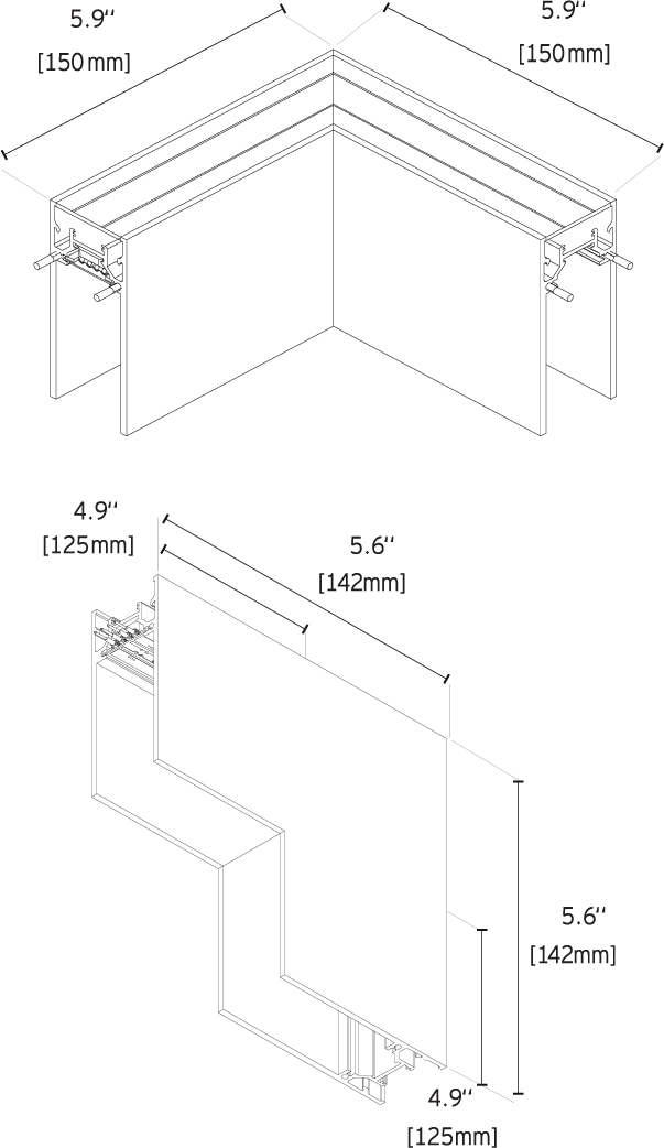 Surface Profile Track Lighting Fixtures